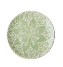 Lace Print Asiette D:21 cm Keramik Grön