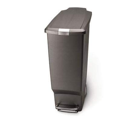 Pedaltunna Smal Plast 40 liter Grå