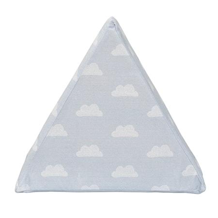 Legepude Trekant Blå 45x15x39