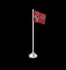 Bordflagg Norsk H35 sølvfarget