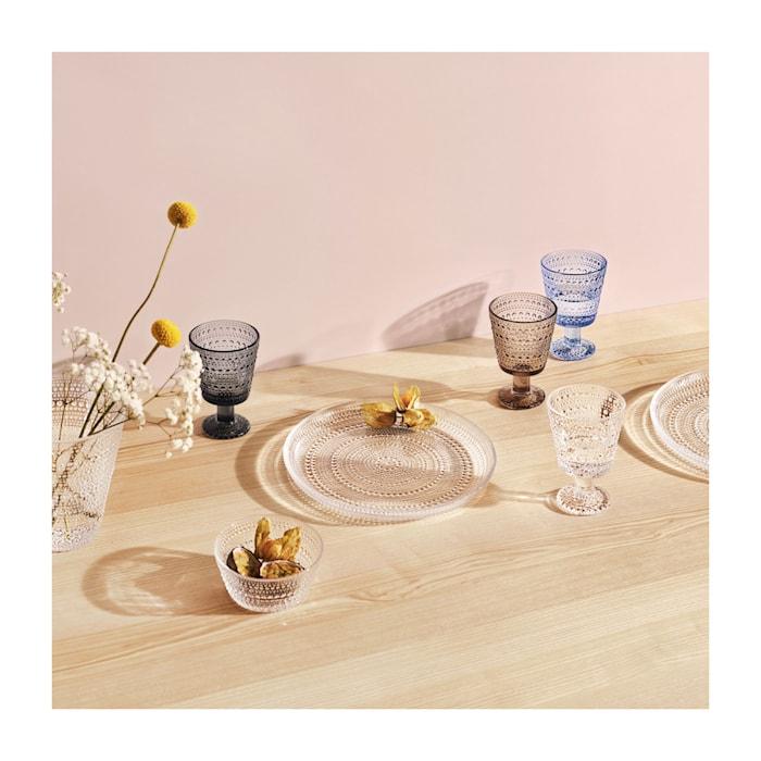 Kastehelmi Glas på fot Klar 26 cl 2 st