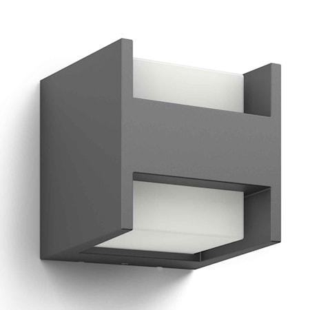 Arbour Vägglampa LED 2x4,5W Antracit