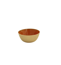 Mässingskål emaljerad orange 7 cm
