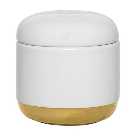 Beholder med låg Hvid Keramik 10,5x11cm