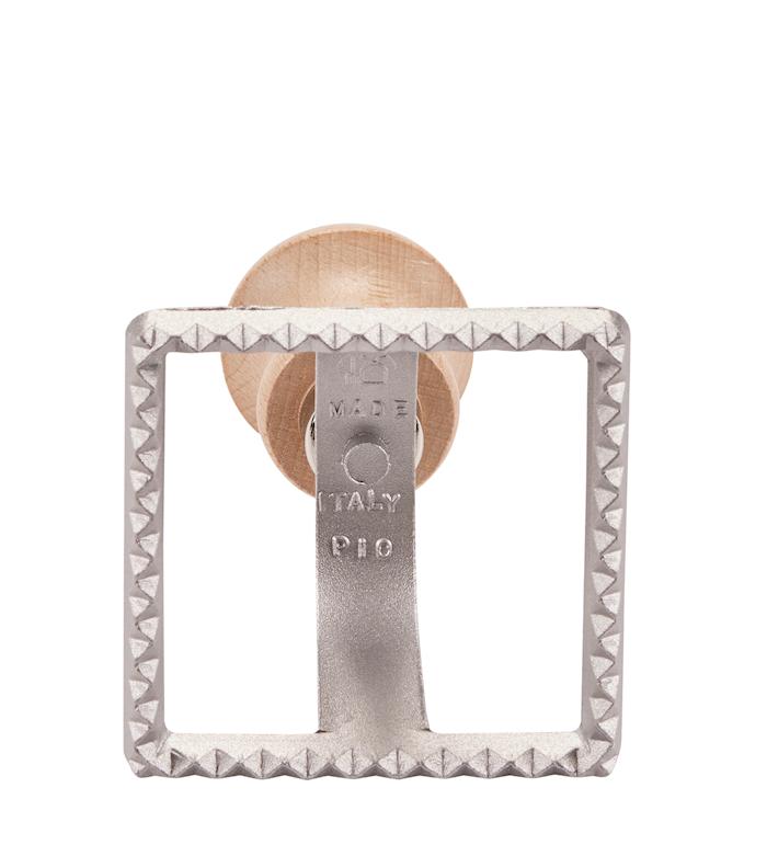 Alum. ravioli Kvadratisk stamp 10,5 cm