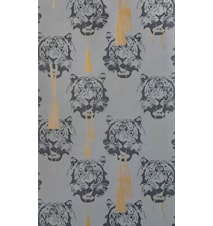 Coco tiger tapet 10 m - Grey