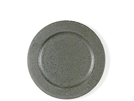 Desserttallerken 22cm grå