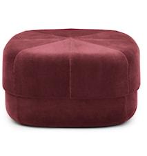 Circus pouf sittpuff velour large - Dark red