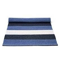 Plastmatta Blue/Vitstriped