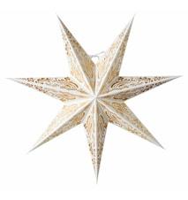 Indira Julstjärna Vit/Guld Glitter 60 cm