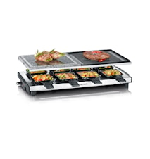 Raclettegrill Deluxe 8 panner