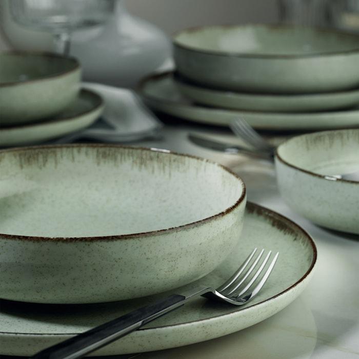 Dinner Set (24 Pieces) Green
