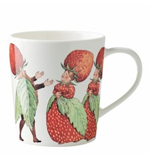 The Strawberry Family mugg m öra 40 cl