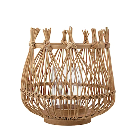 Katarina Lyslykt Bambus/Glass Natur Large