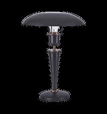 Bordslampa Opal 34cm Svart