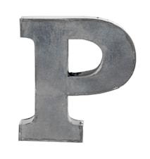 Bokstav P 5,5 cm - Zinc