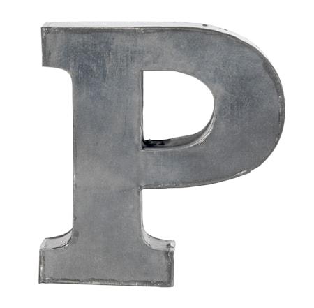 Zinc letter, P