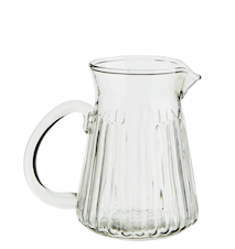 Glass Pitcher with Stripes Clear 7,5x10,5cm
