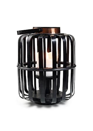 Kerzenhalter Bambus Schwarz