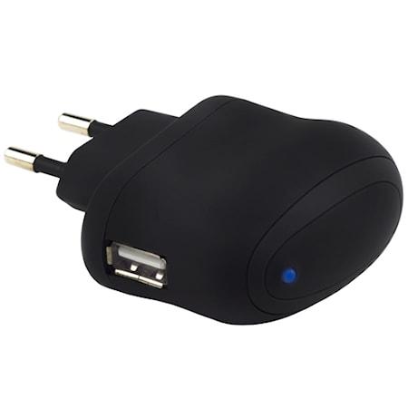Champion USB Oplader 230V 2.1A Sort