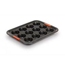 Muffinsform Non-Stick Aluminium Svart