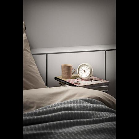 Arne Jacobsen Bankers bordur, hvid/hvid, Ø 11 cm, alarmfunktion