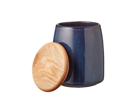 Burk med Lock Mörkblå 16,5 cm