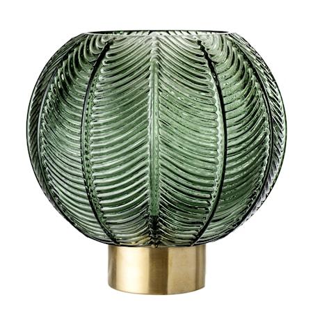 Vase Green Glass Ø20x21 cm