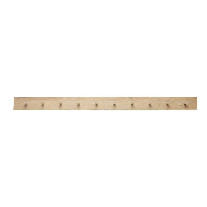 Naulakko 10 koukkua 140xh10cm - Luonnonvärinen