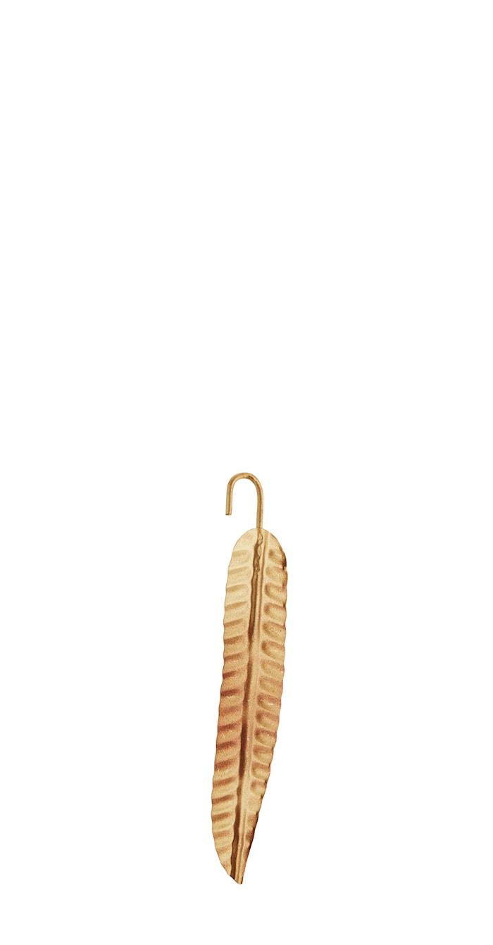 Hængende blad 20 cm - Guld