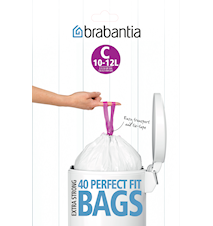 Rubbish bags C 10-12L [Dispenser Pack with 40 bags] White