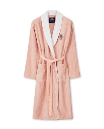 Cotton Velour Contrast Badrock Pink/Vit Large