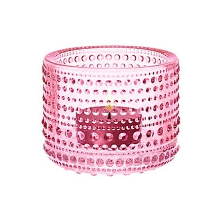 Kastehelmi Kynttilälyhty 64 mm vaalea pinkki