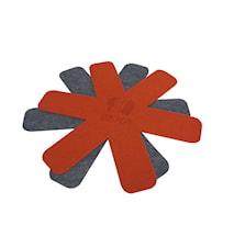 Paistinpannunsuojus Punainen & Harmaa 38 cm