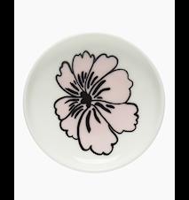 Eläköön Elämä Lautanen 8.5 cm Valkoinen/Vaaleanpunainen