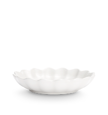 Ostronskål Mellan Vit 24 cm
