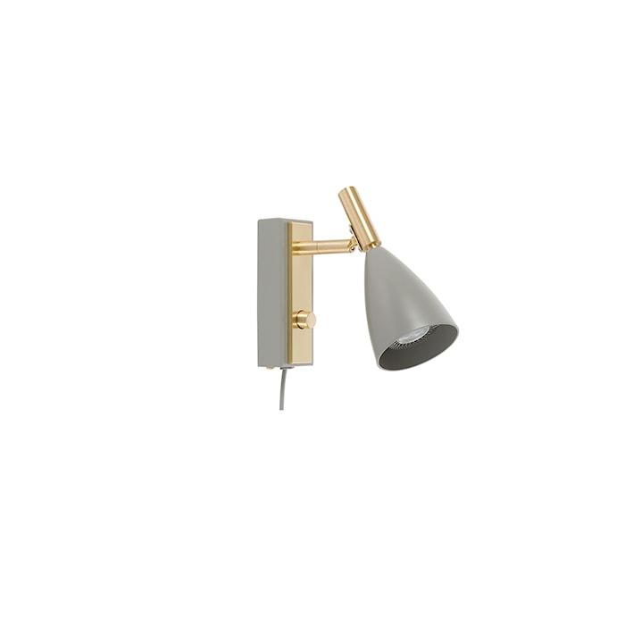 Frank 2.0 Vägglampa varmgrå/Mässing LED Dimbar