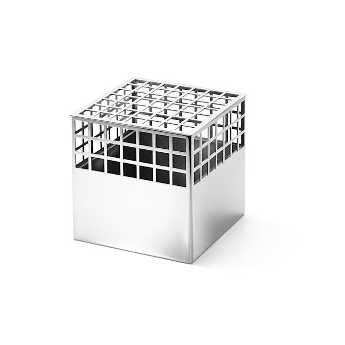 Matrix Cube Vase Rustfritt Stål Medium