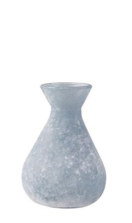 Vase - Glas - Ocean blå - Frostet - D 6,8cm - H 10,5cm - Stk.