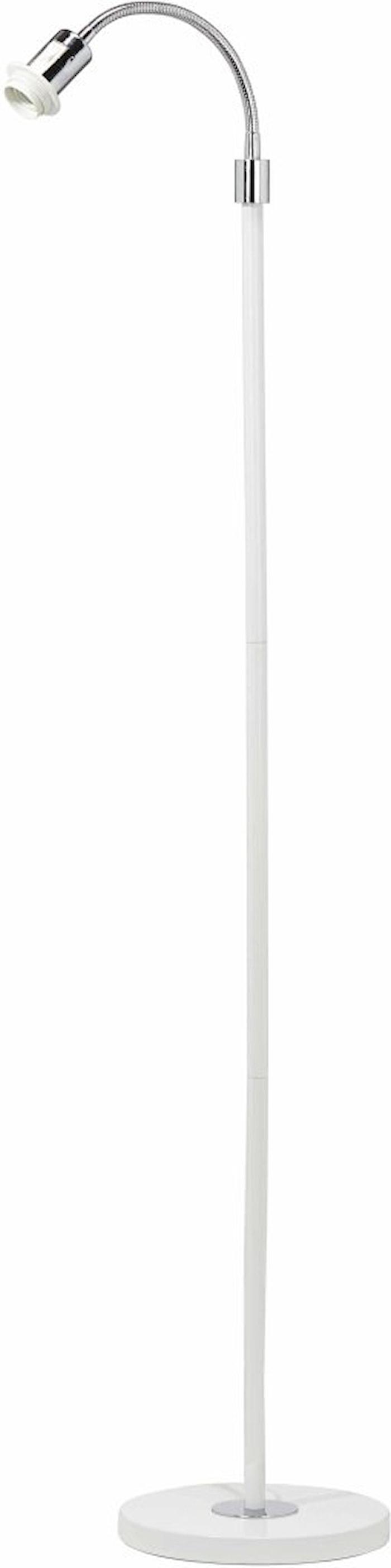 Cia yksijalkainen Lattiavalaisimen jalka Valkoinen/kromi 160cm