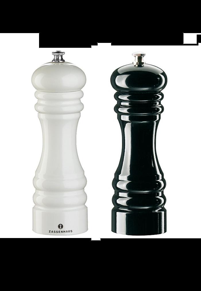 Berlin Salt- & Pepparkvarn Set Vit/Svart 18 cm
