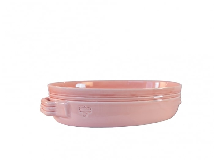 Toscana Gratängform 34x23 cm Keramik Rosa