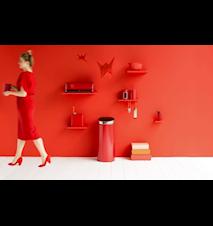 Oppbevaringsboks med vindu 1.4 Ltr Passion Red