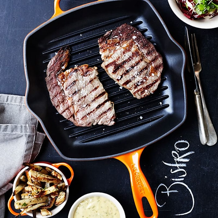 Square grill pan 26 Mist Gray