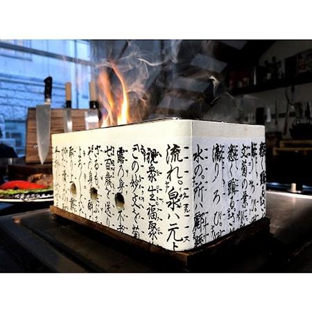 Hibachi Rektangulär japansk bordsgrill
