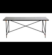 Dining table 185 cm mässing matbord - Vit