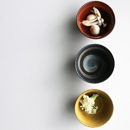 Japanische Keramik Matchaschüsseln Set mit 3