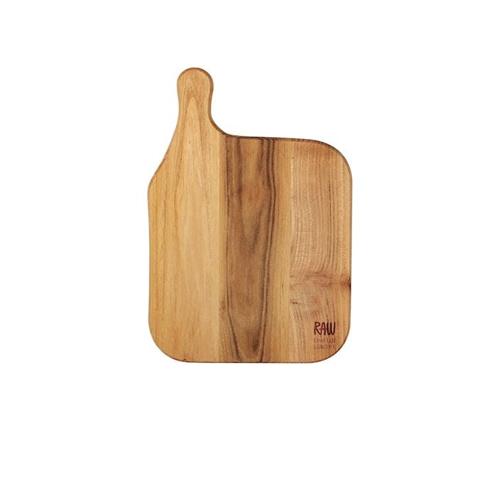 Raw tabla de cortar teca 32x22 cm