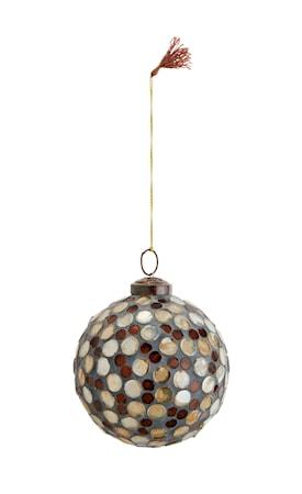 Hängande mosaikboll Ø 10 cm Brun/guld