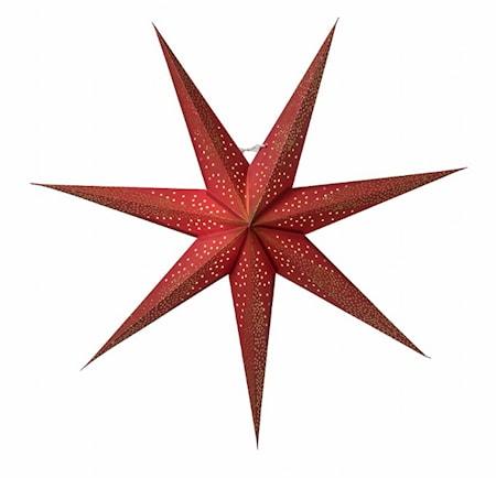 Skina Julstjärna Röd/Guld 80 cm